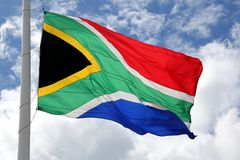 Südafrikanische Flagge Lizenzfreies Stockfoto
