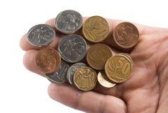 Südafrikanische Münzen Stockfotos