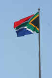 Südafrikanische Markierungsfahne stockfotos