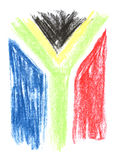 Südafrikanische Markierungsfahne lizenzfreies stockbild