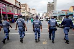 Südafrikanische Polizei Stockfoto