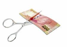 südafrikanische Währung 3D mit Scheren lizenzfreie abbildung