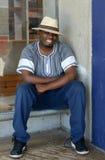 Südafrikanischer Mann glücklich Stockfoto
