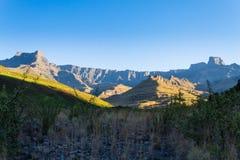 Südafrikanischer Markstein, Amphitheatre von königlicher Natal National P Stockbilder