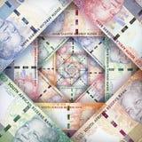 Südafrikanischer Rand Background Stockfoto
