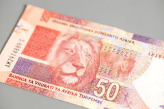 Südafrikanischer Rand fünfzig stockbilder