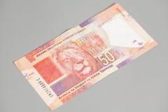 Südafrikanischer Rand fünfzig stockfoto