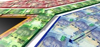 Südafrikanischer Rand Notes Flag Lizenzfreies Stockbild