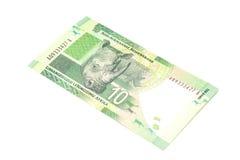 Südafrikanischer Rand zehn lizenzfreie stockfotografie