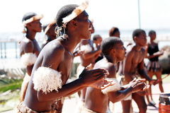 Südafrikanischer Zulutänzer