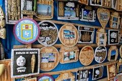 Südamerika-Dekorationen im Souvenirladen Lizenzfreies Stockfoto