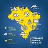 Südamerika, infographics für Reise lizenzfreie abbildung