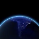 Südamerika-Nacht übertragen Stockfotos
