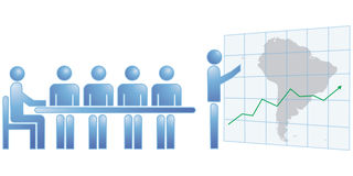 Südamerika-Statistiken Lizenzfreies Stockbild