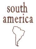 Südamerika und Kaffee Stockfoto