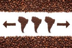 Südamerika und Kaffee Stockbilder