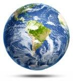 Südamerika-Weiß lokalisiert Lizenzfreie Stockfotografie