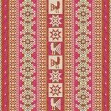 Südamerikanisches traditionelles Textilgeometrisches Muster lizenzfreie abbildung