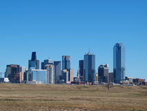 Südansicht von im Stadtzentrum gelegenem Dallas Stockfotos