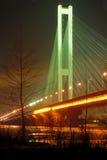 Südbrücke nachts, Kiew, MA Stockfotos
