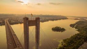 Südbrückenvogelperspektive bei Sonnenuntergang Lizenzfreies Stockfoto
