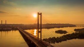 Südbrückenvogelperspektive bei Sonnenuntergang Lizenzfreie Stockfotografie