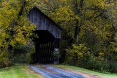 Südbutterfisch-überdachte Brücke - Vermont Lizenzfreies Stockbild
