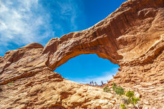 Südfenster in den Bögen Nationalpark, Utah Stockbilder