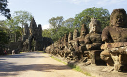 Südgatter zu Angkor Thom Stockfotografie