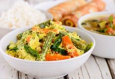 Südinder-Kerala-Mittagessen lizenzfreies stockfoto