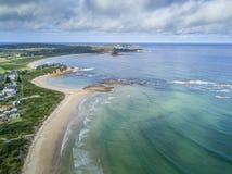 Südküste setzt Australien auf den Strand Lizenzfreies Stockbild