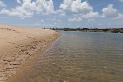 Südküstenlinie - Geburts-, RN, Brasilien Stockbild