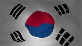 Südkorea-Flagge, die in den Wind fließt lizenzfreie abbildung