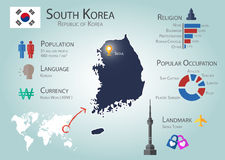 Südkorea Infographics Stockbild