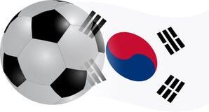 Südkorea-Markierungsfahne Lizenzfreies Stockbild