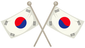 Südkorea-Markierungsfahne lizenzfreie abbildung