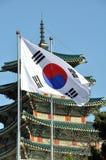 Südkoreanische Flagge lizenzfreie stockfotos