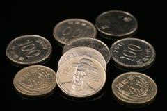 Südkoreanische gewonnene Münzen Stockfoto