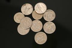 Südkoreanische gewonnene Münzen Lizenzfreie Stockfotografie