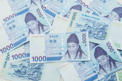 Südkoreanische gewonnene Währung Lizenzfreie Stockfotografie