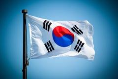Südkoreanische Markierungsfahne Lizenzfreie Stockfotos