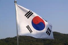 Südkoreanische Markierungsfahne Stockfotografie