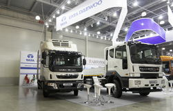 Südkoreanisches Firma-Daewoo-Auto Stockfotografie