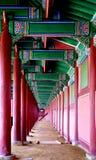 Südkoreanisches Schloss interor Stockbilder