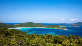 Südliche japanische Inseln von oben lizenzfreie stockfotografie