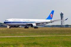 Südliche Jet-Abreise Chinas lizenzfreie stockfotografie