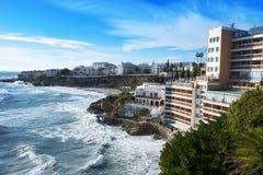 Südliche Küste von Nerja, in Spanien Stockfoto