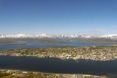 Südliche Seite von Tromsoe Lizenzfreies Stockfoto