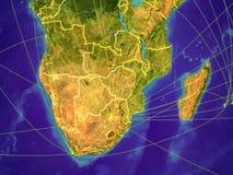 Südlicher Afrika auf Erde lizenzfreie abbildung