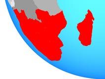Südlicher Afrika auf Kugel stock abbildung